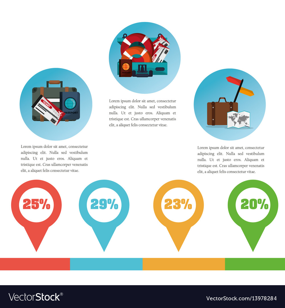 Brochure travel promotion infographic vector image
