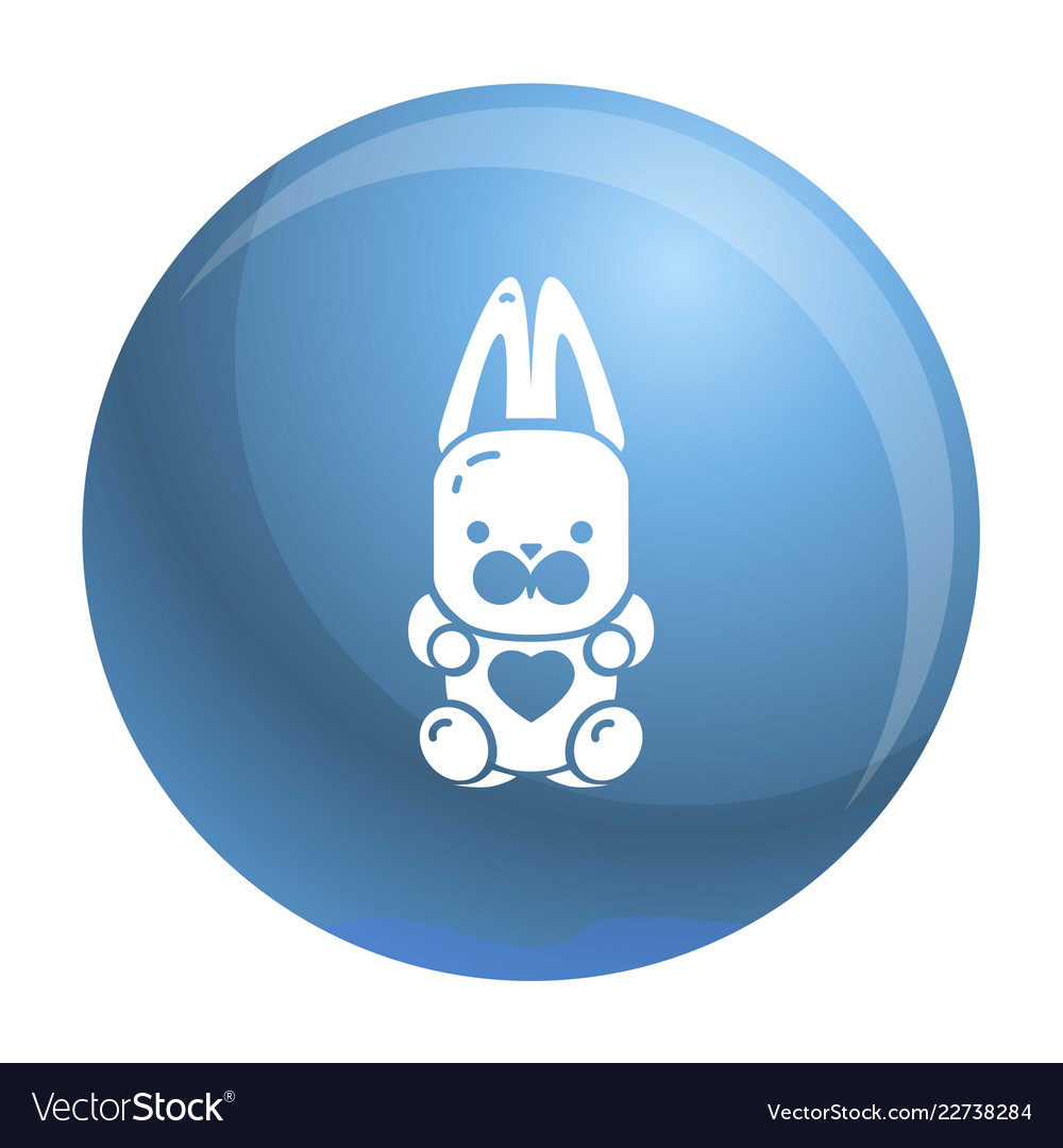 Candy rabbit icon simple style