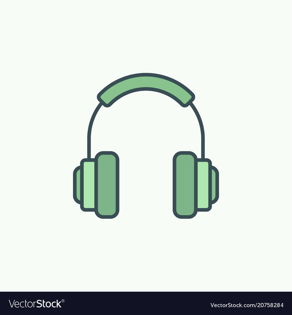 Green on-ear headphones icon or logo