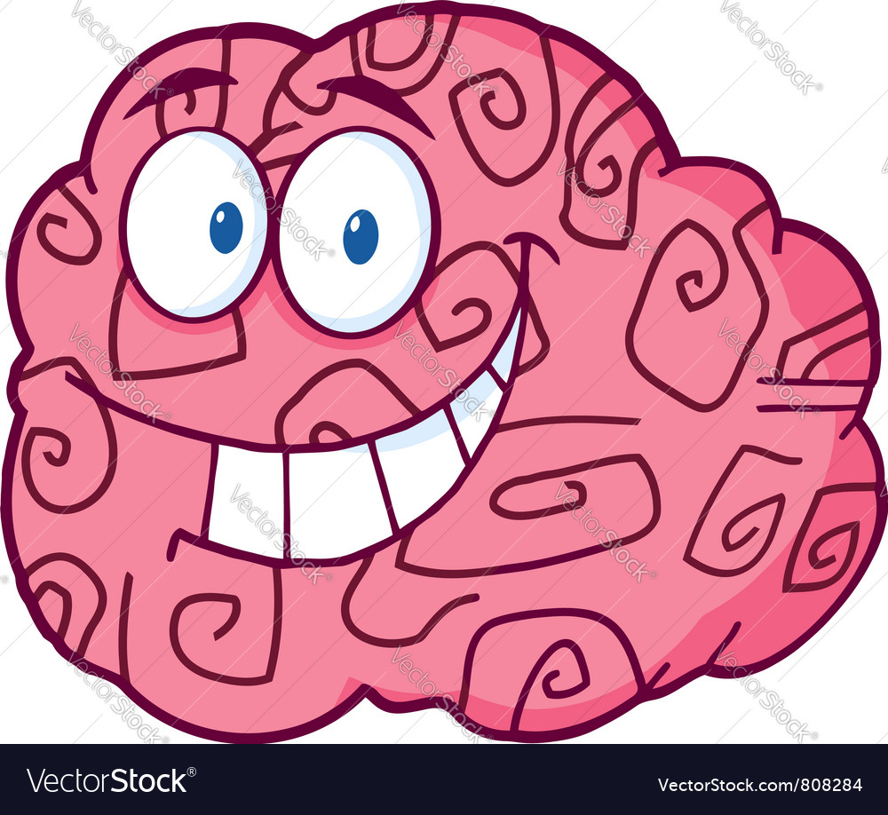 Happy Brain Cartoon vector image