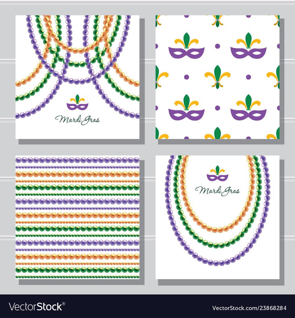 Mardi gras carnival decorative template and
