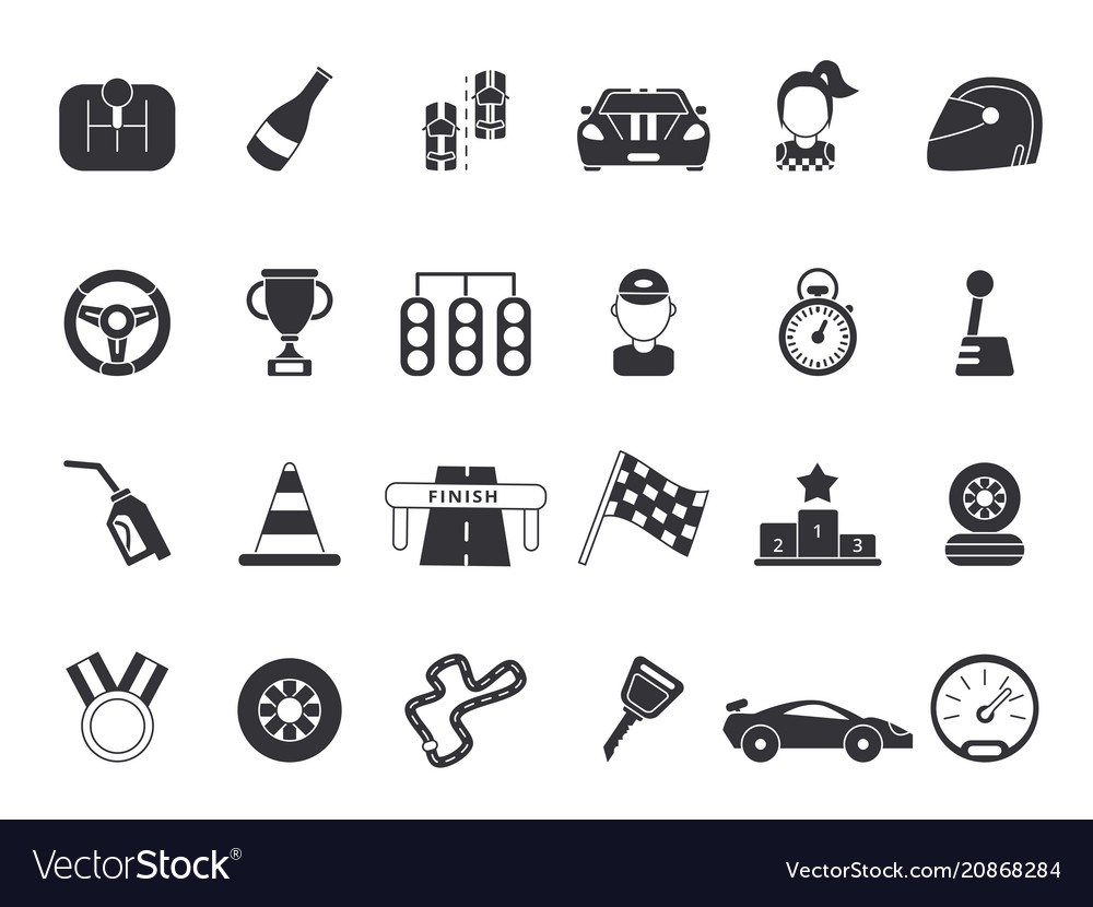 Monochrome pictures set of sport symbols for vector image
