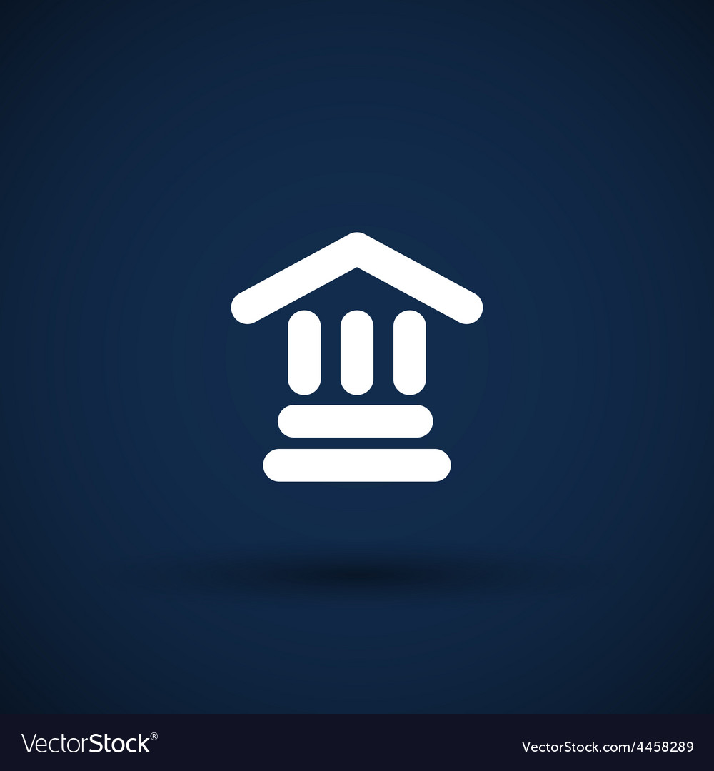Bank icon isolated symbol building