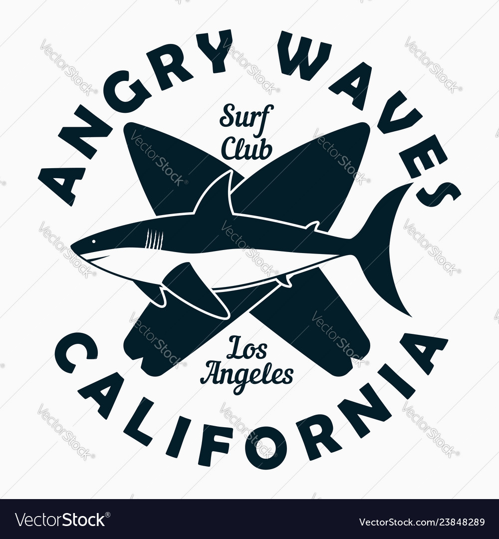 California los angeles - surfing typography