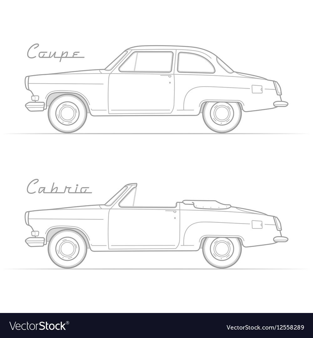 Classic Retro Car Silhouette Image Royalty Free Vector Image