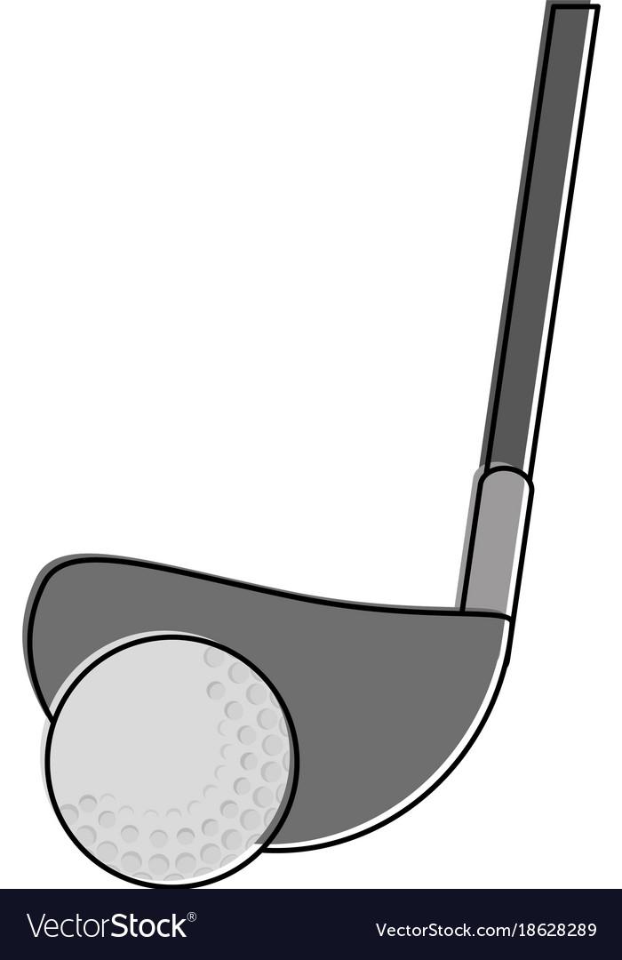 Club and ball golf sport