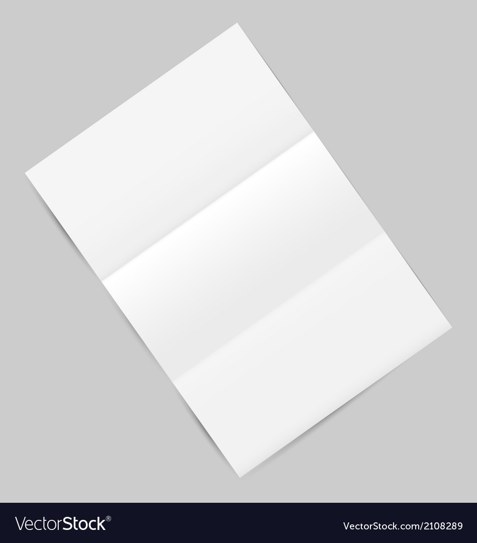 Empty paper sheet with shadows isolated on gray