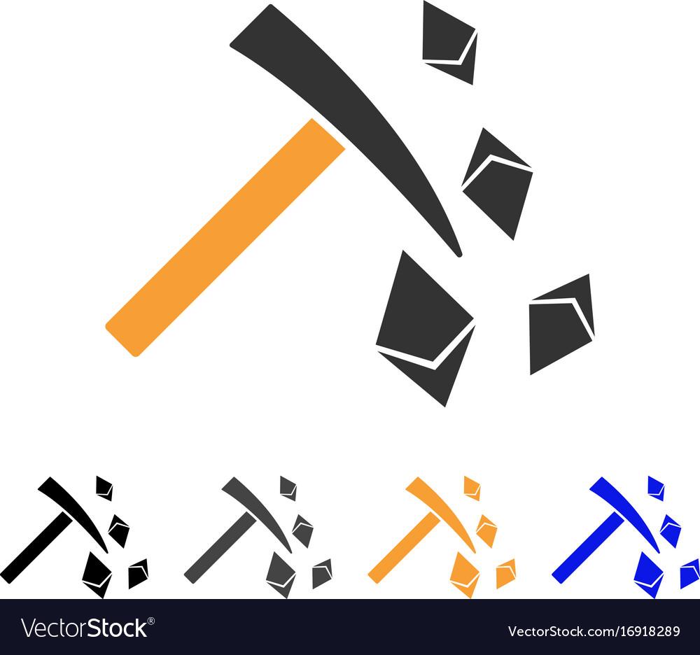 Ethereum mining hammer icon