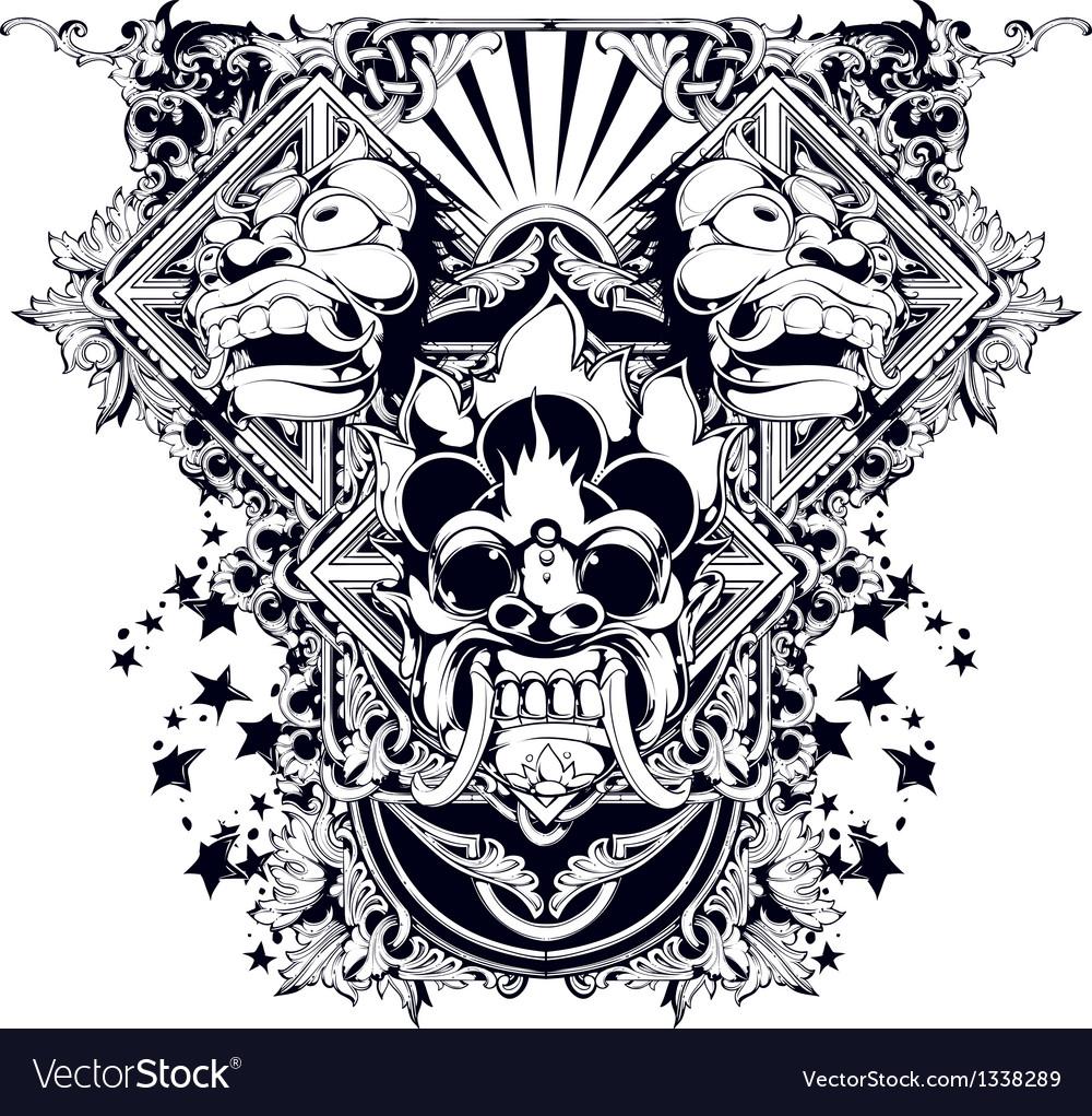 Evil design vector image