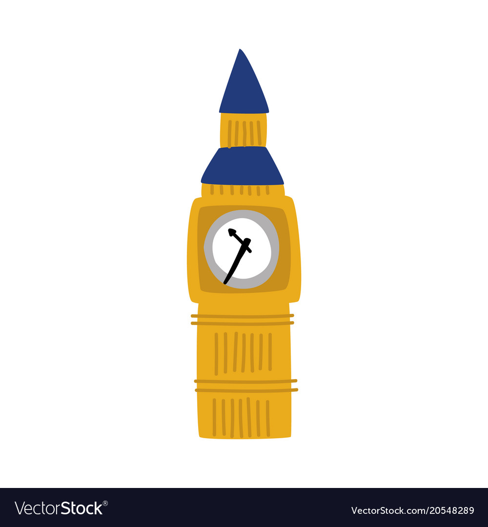 dd6db47d41d1b Flat big ben tower of united kingdom icon Vector Image