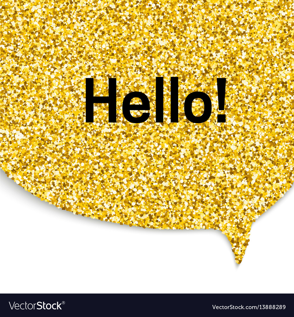 Gold speech bubble