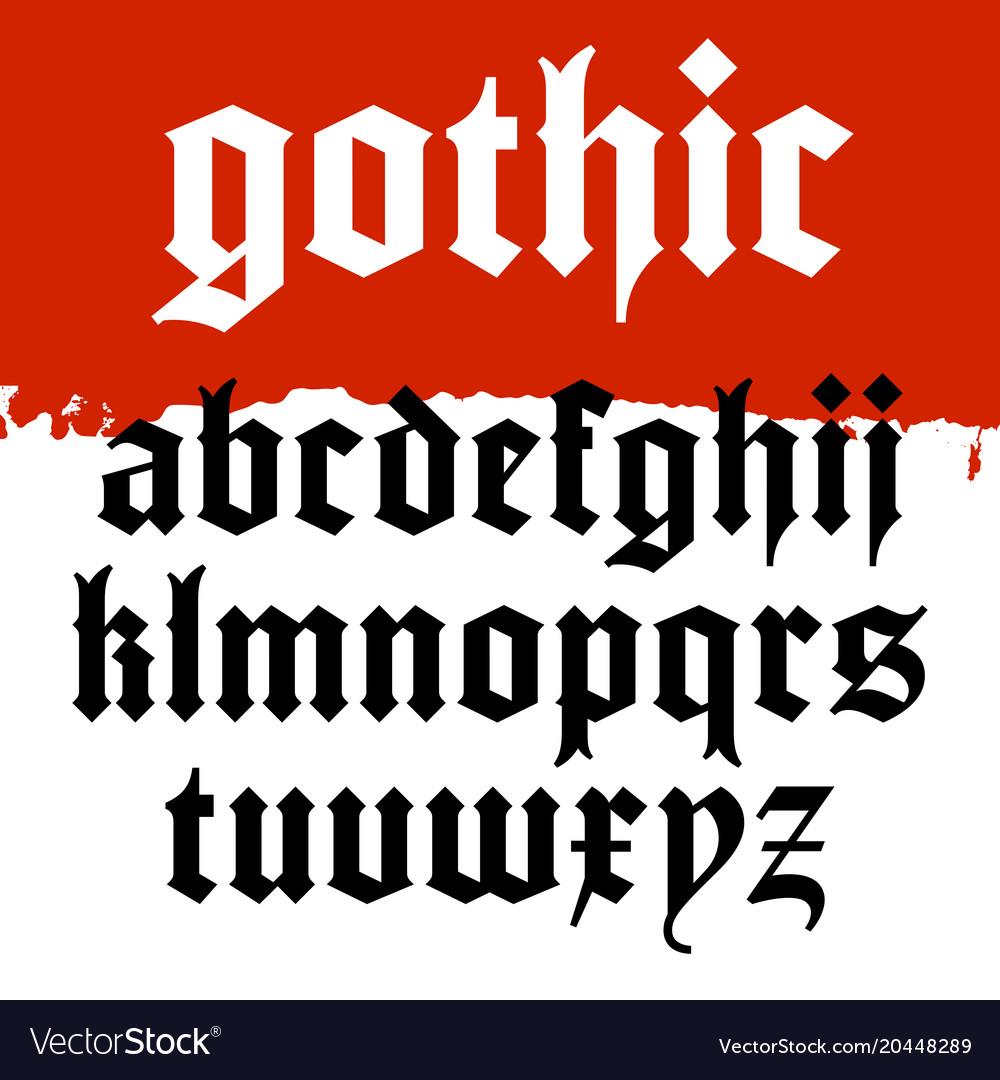 Gothic font 001