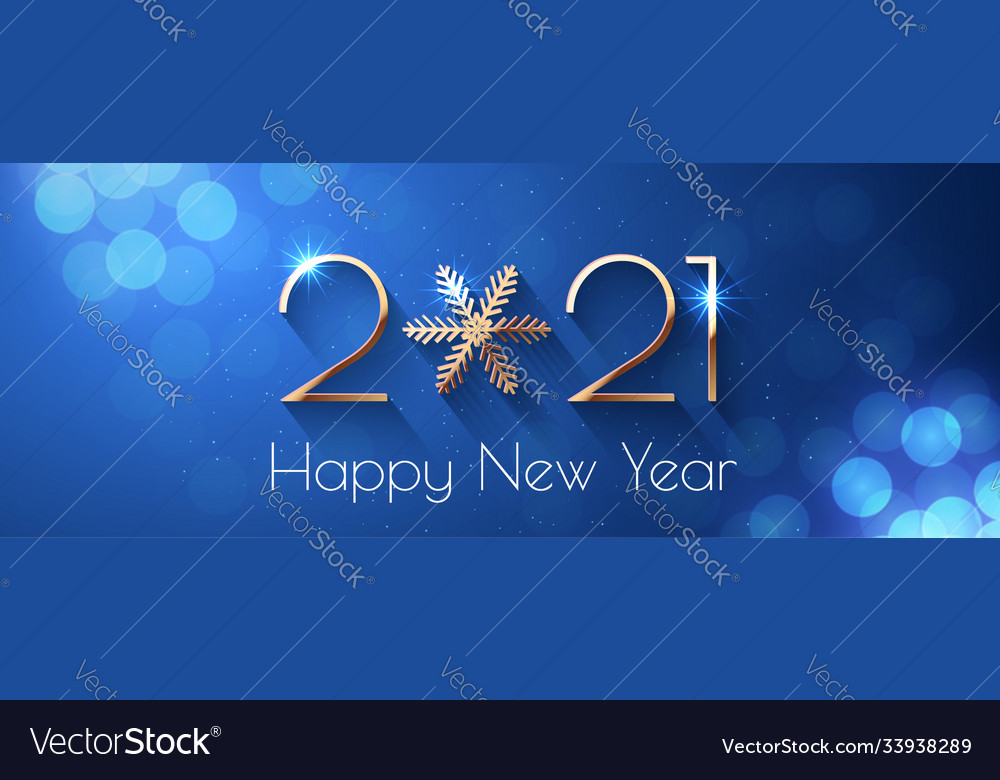 Happy New Year 2021 Holiday Text Design Royalty Free Vector