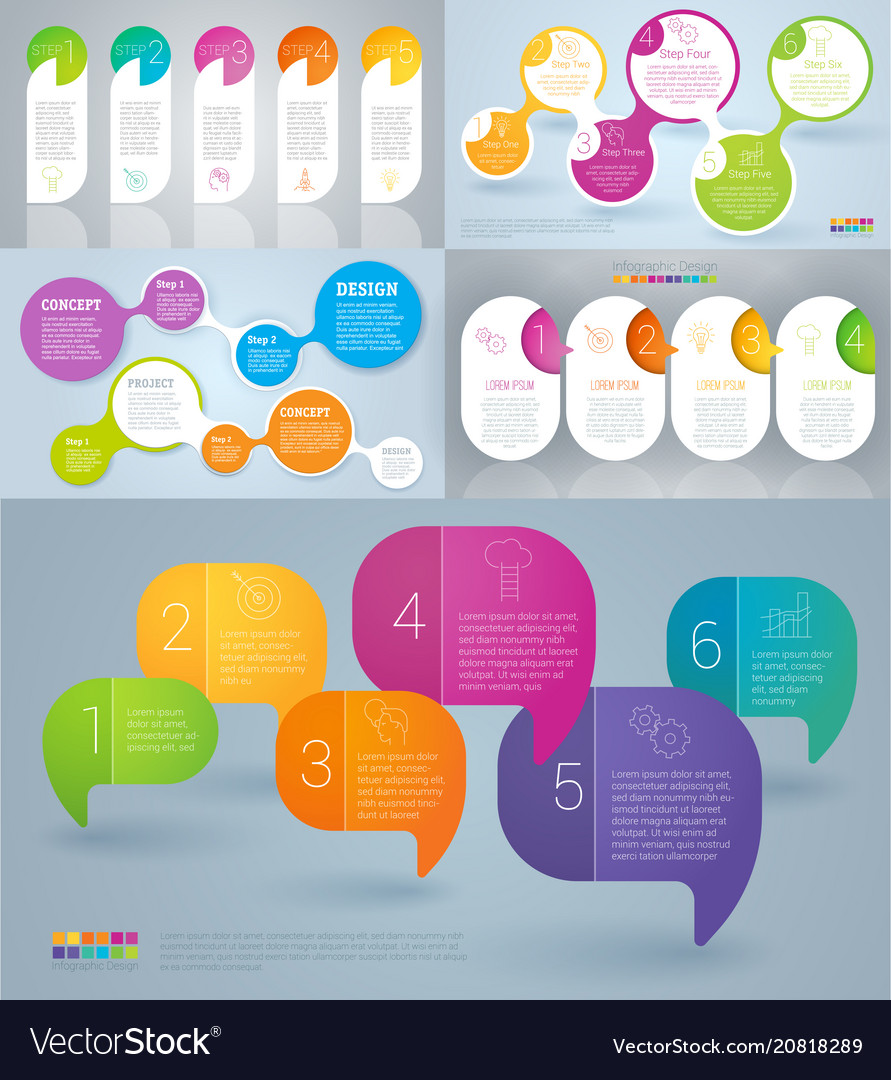 Rainbow color infographics