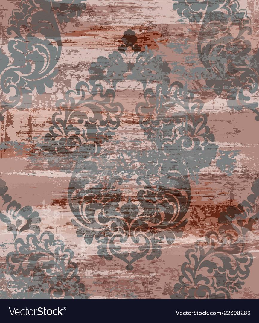 Vintage grunge baroque pattern beautiful