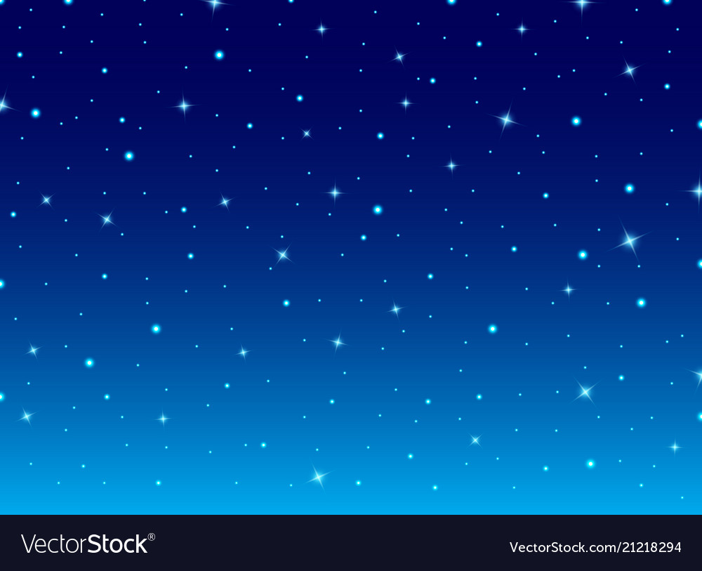 Abstract night blue sky with stars cosmos