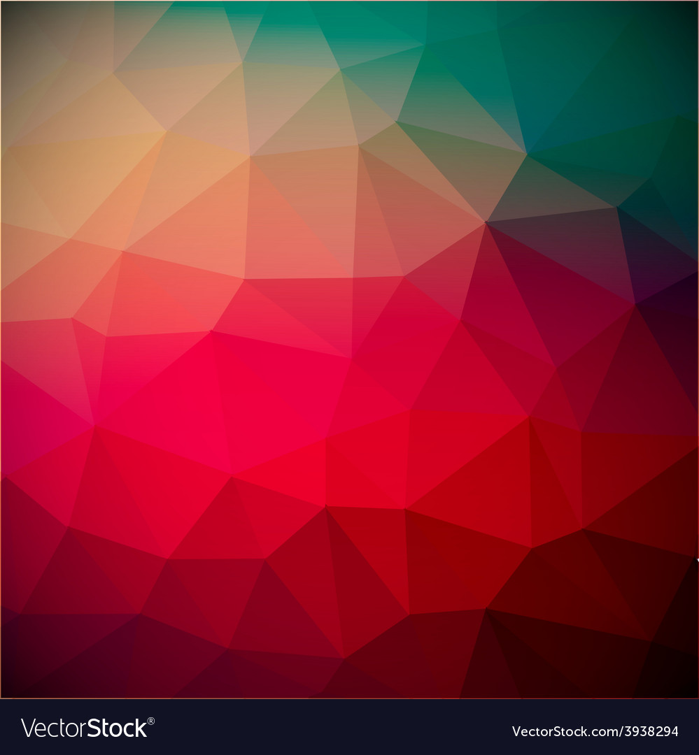 Abstract Retro Red Triangle Background