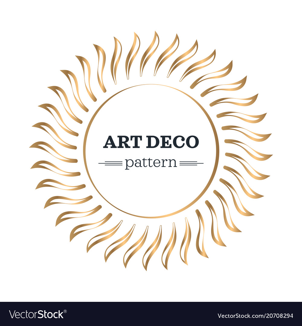 Art deco border template Royalty Free Vector Image