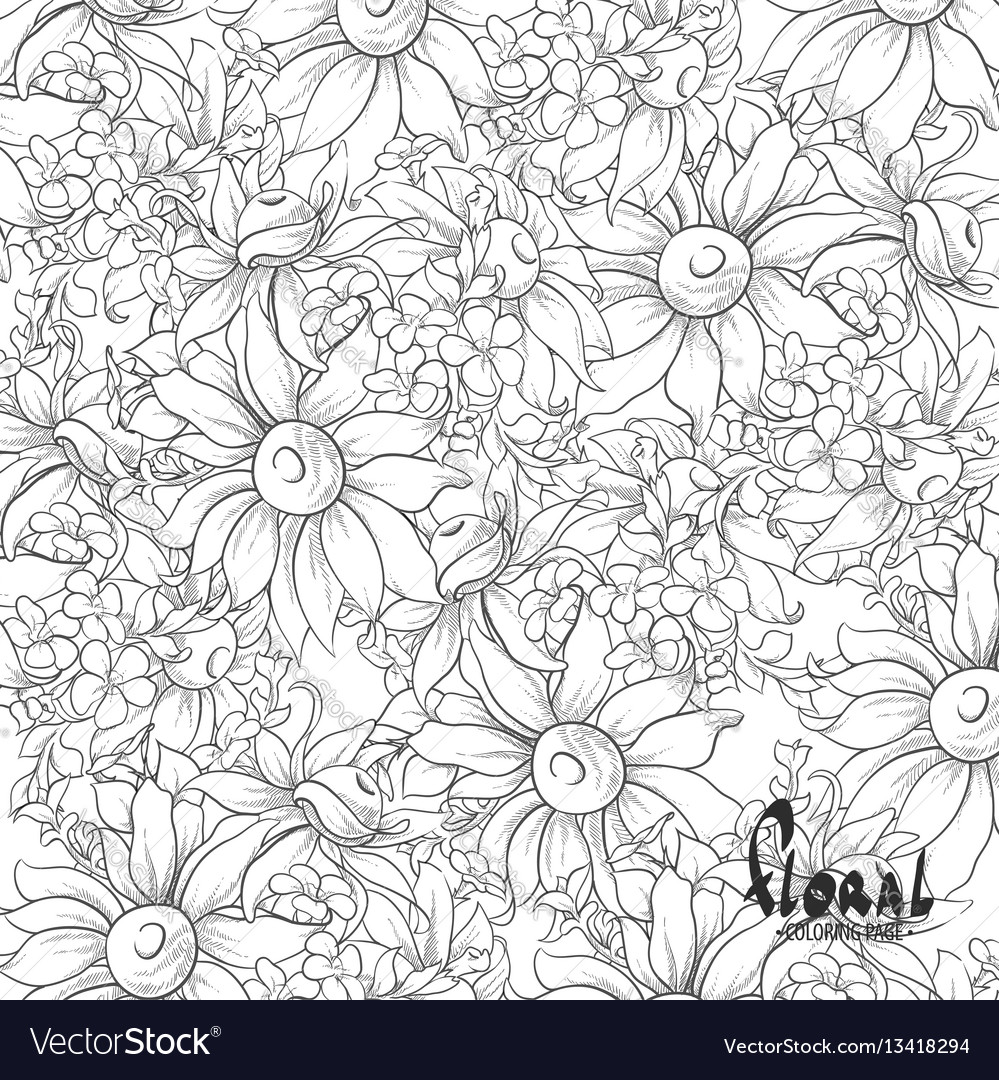 Black And White Sunflowers Royalty Free Vector Image