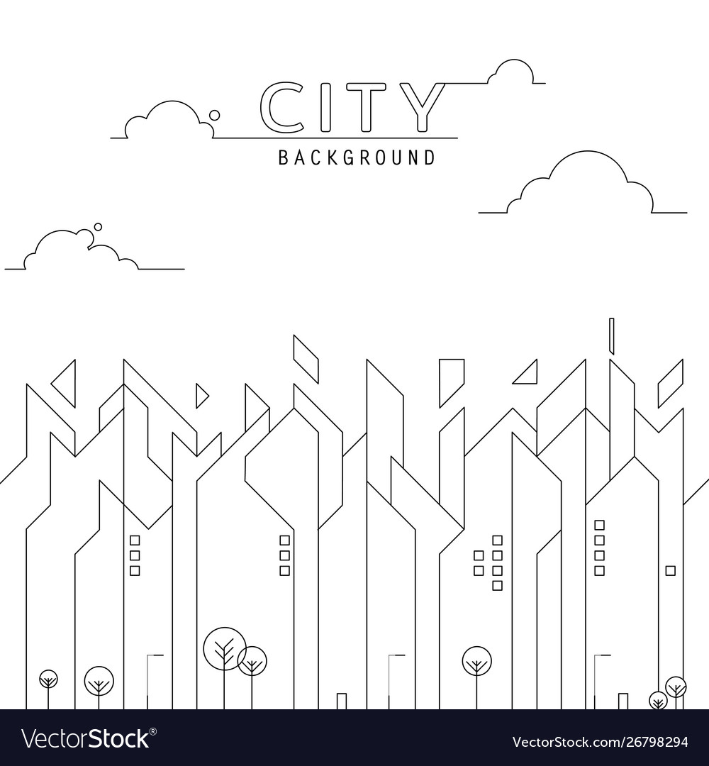 City line simple background