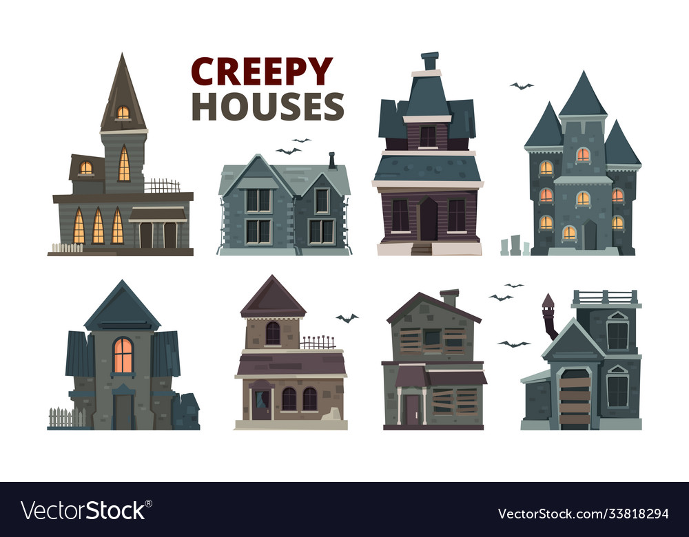 Horror house halloween scary gothic village