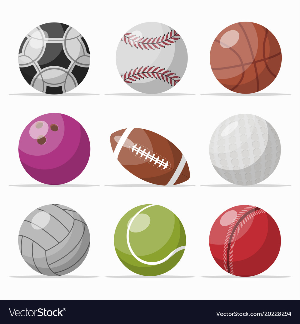 Icon set of various games balls vector image