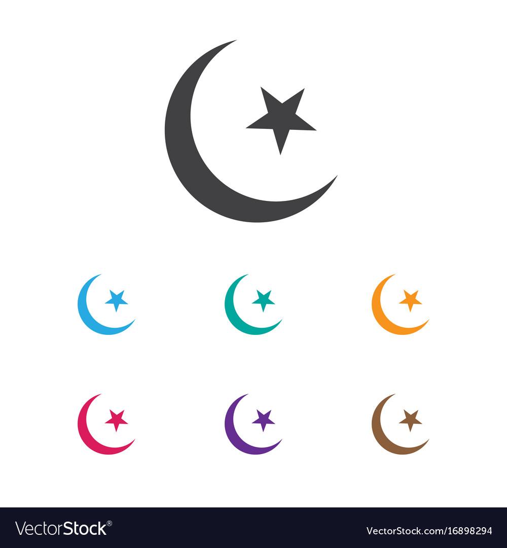 Of religion symbol on islam vector image