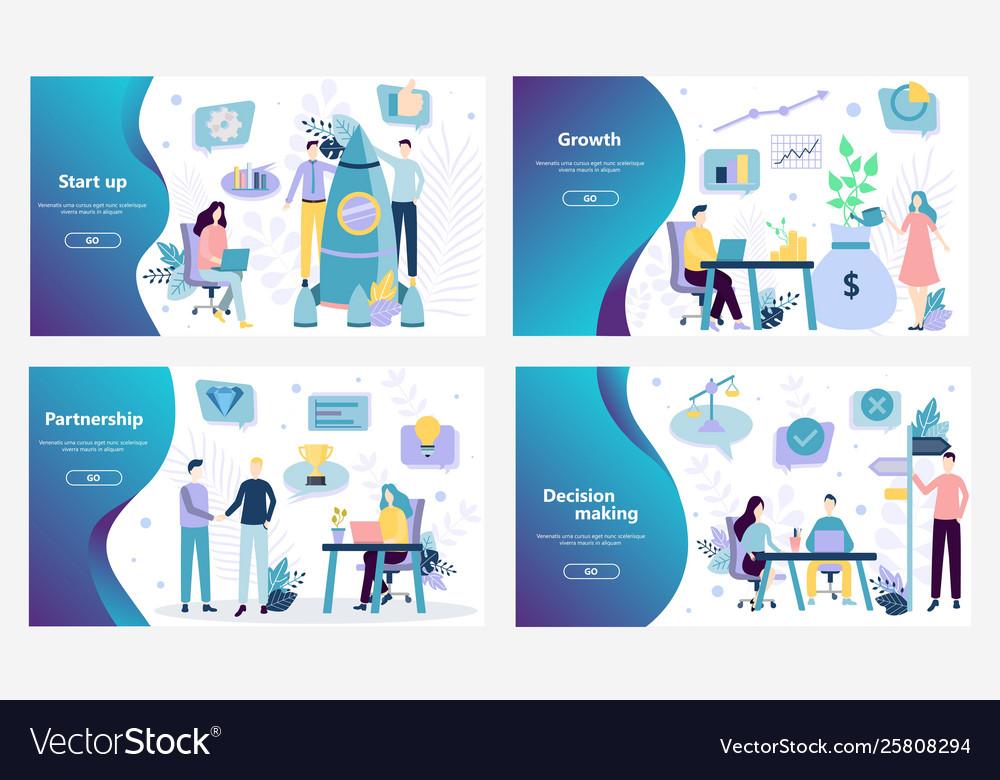 Web site design template startup business