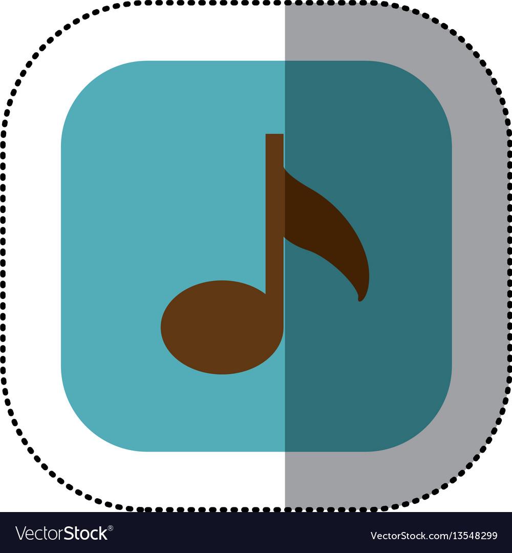 Blue symbol music icon