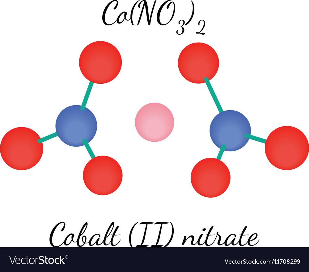 Cobalt Ii Nitrate Con2o6 Molecule Royalty Free Vector Image