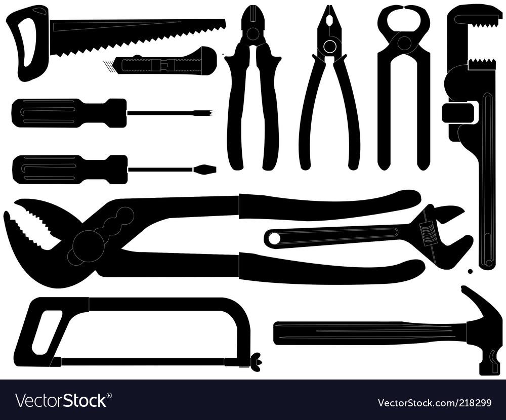 hand tools royalty free vector image vectorstock rh vectorstock com Tool Tool Templates for Boards Cartoon Tools