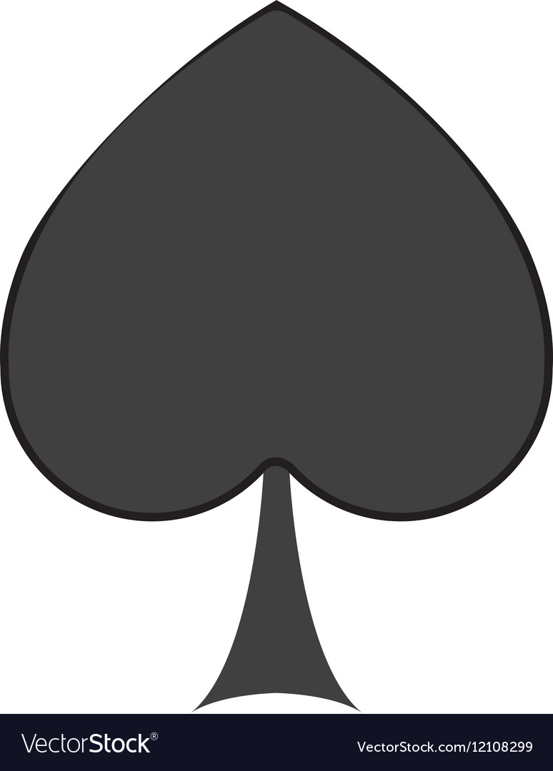 spade card game  Isolated spade of card game design