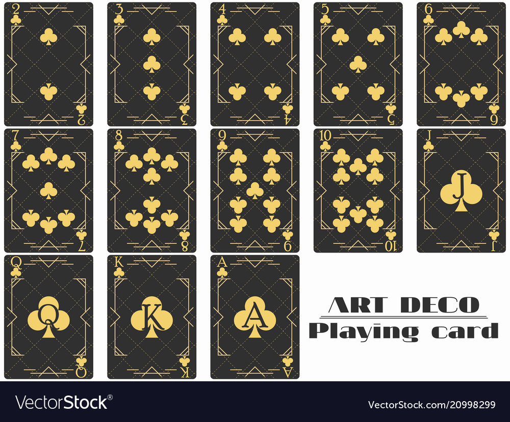 Playing cards club suit poker cards original