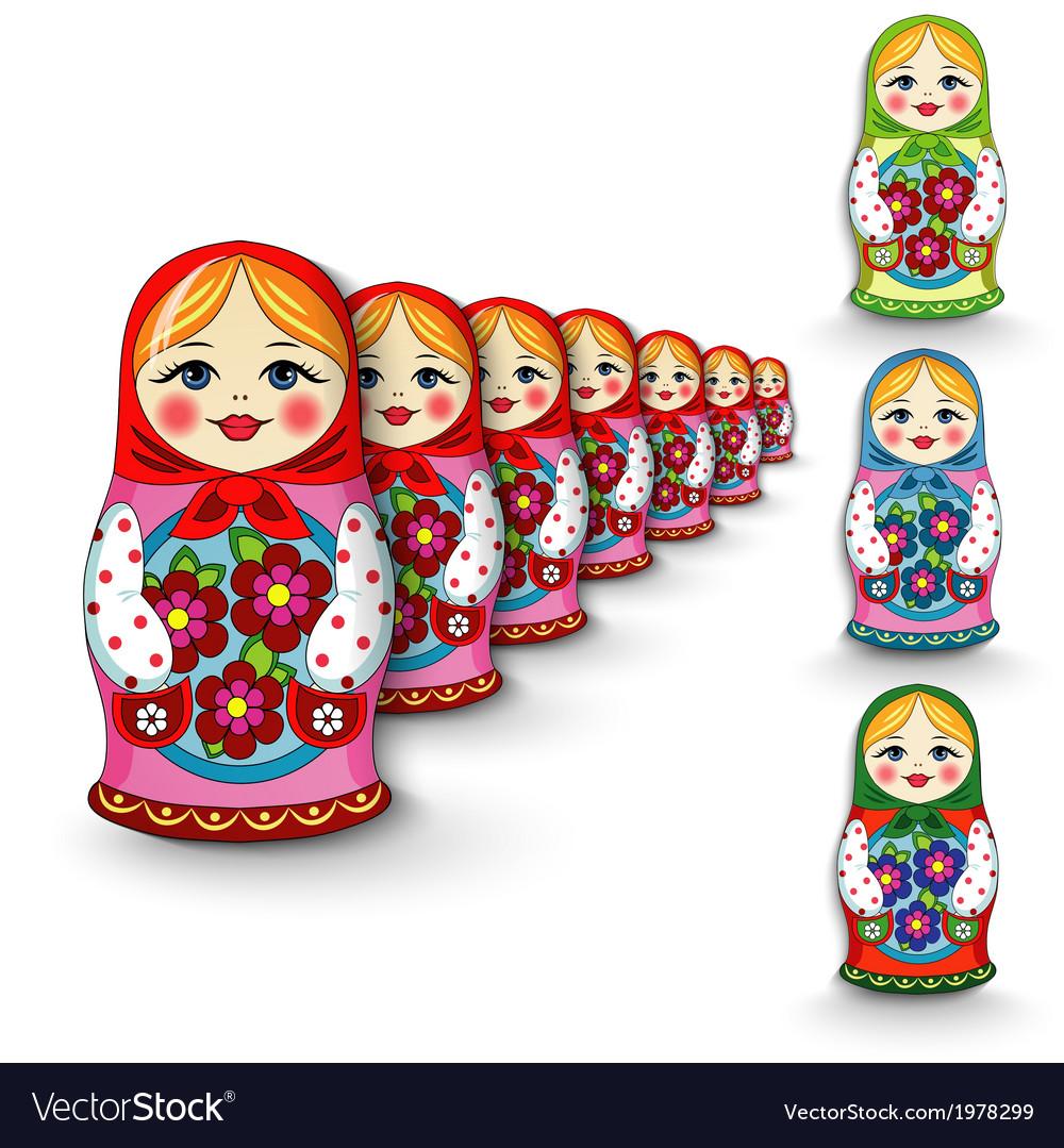 Russian doll matryoshka vector image