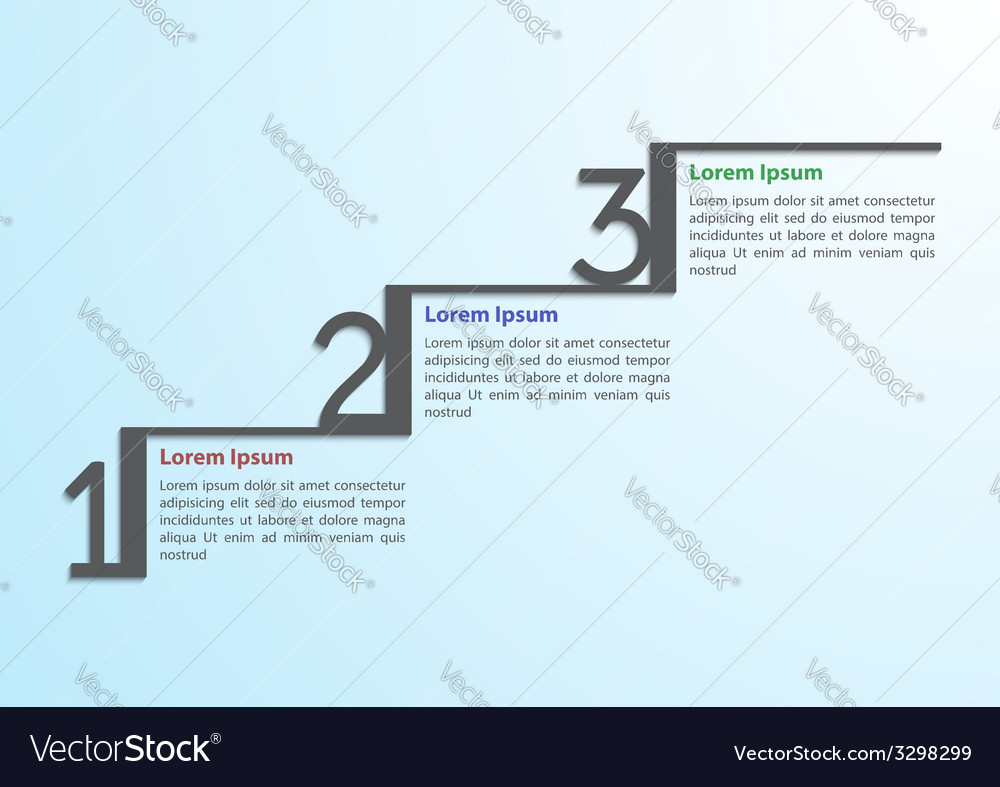 Step by step infographic template vector image