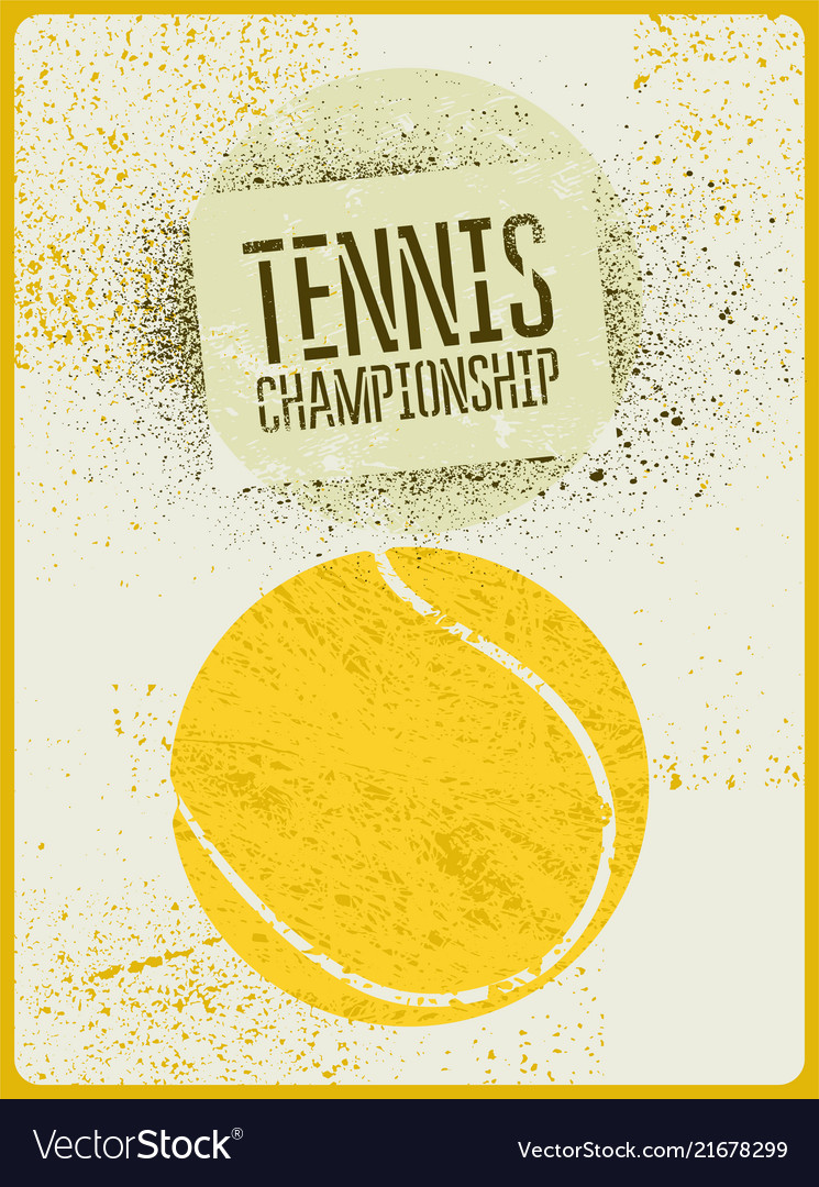 Tennis typographical vintage grunge style poster