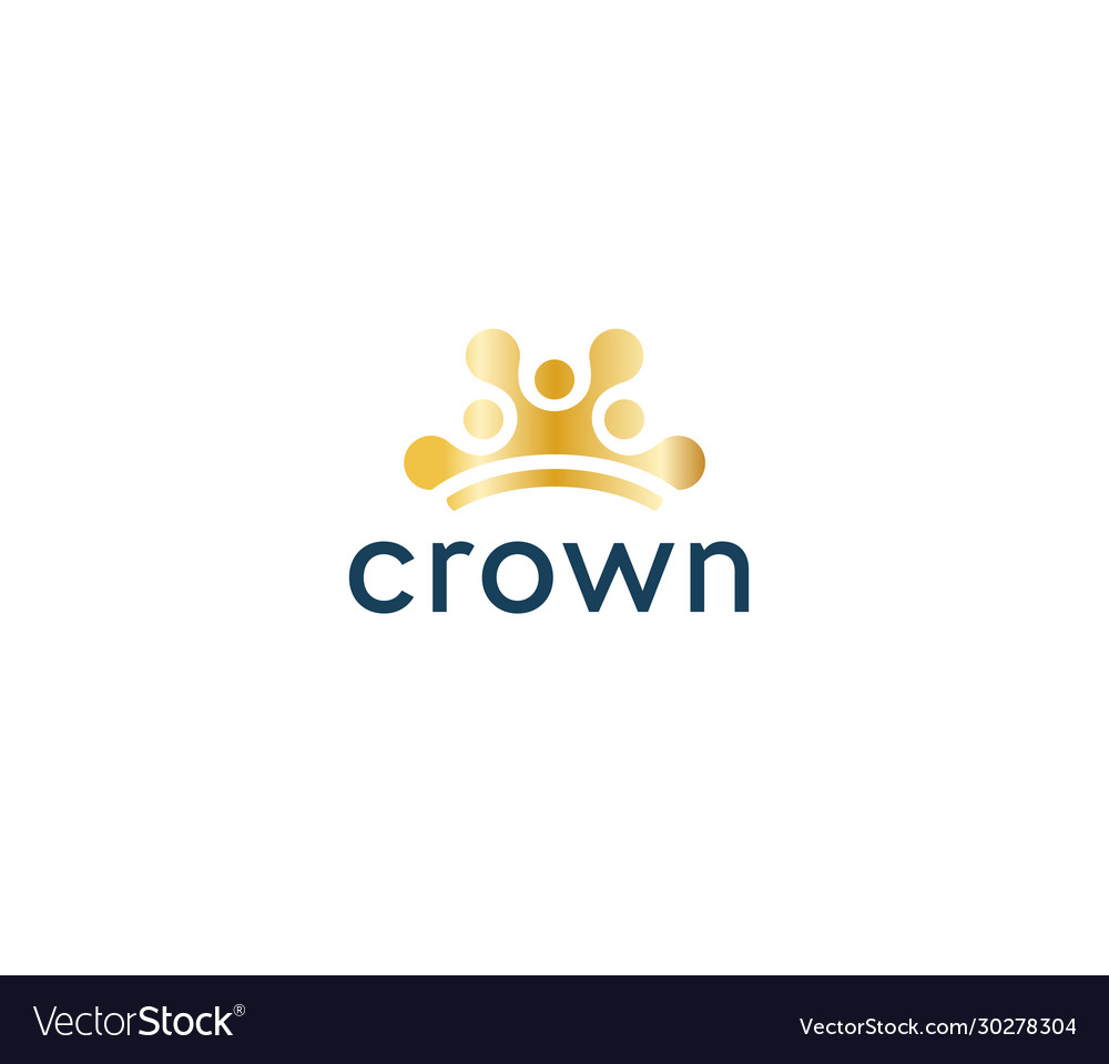 Abstract sun icon golden crown circles in