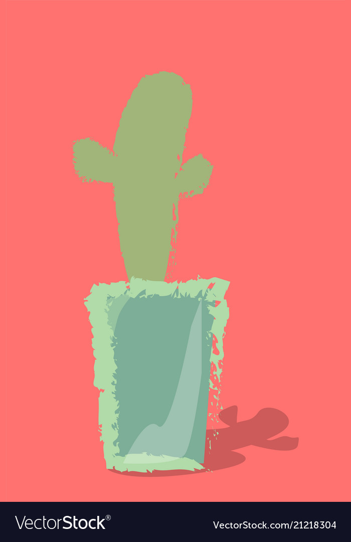 Cactus in a pot on a background
