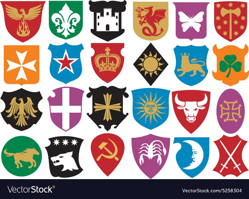 Heraldic Symbols Icon Set