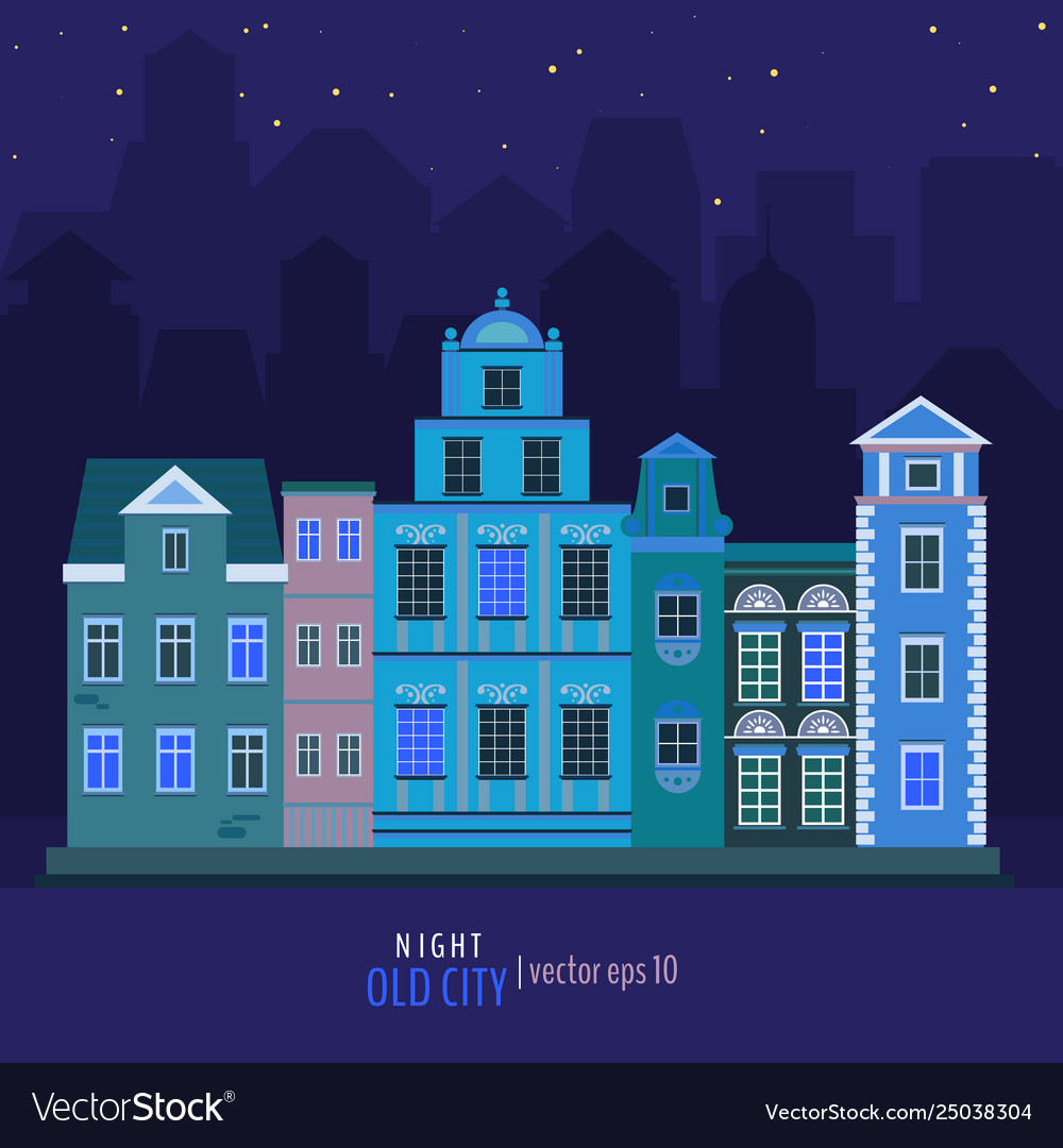 Old night city