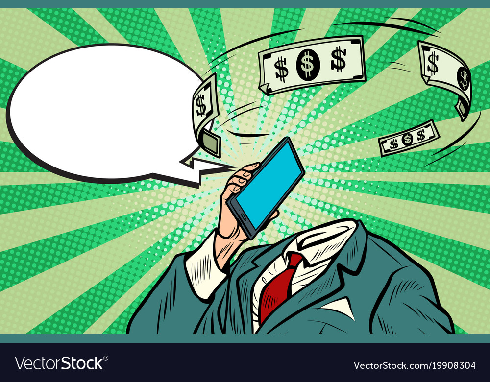 Online banking and financial communications vector image