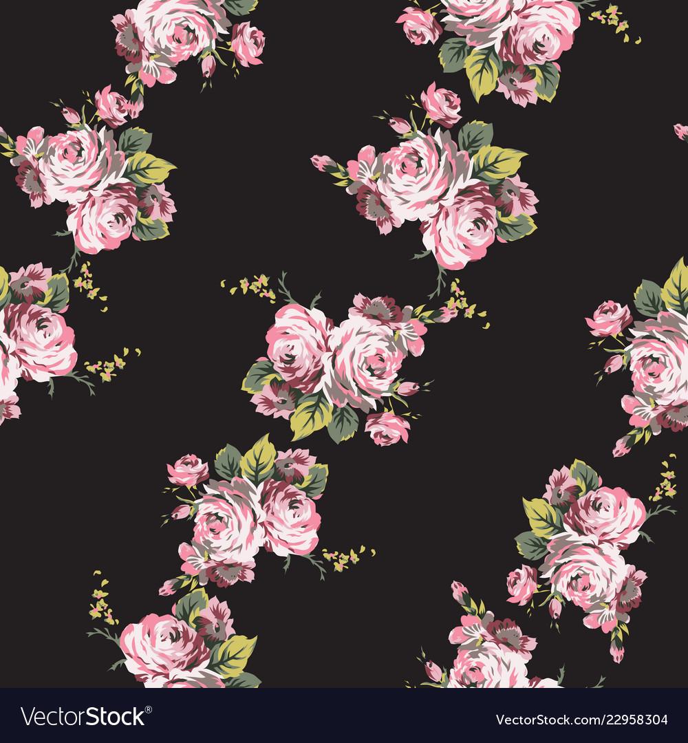 Shabchic vintage roses seamless pattern