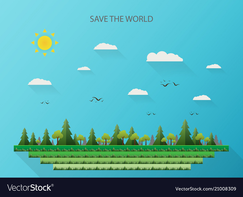 Abstract of nature background for saving the world