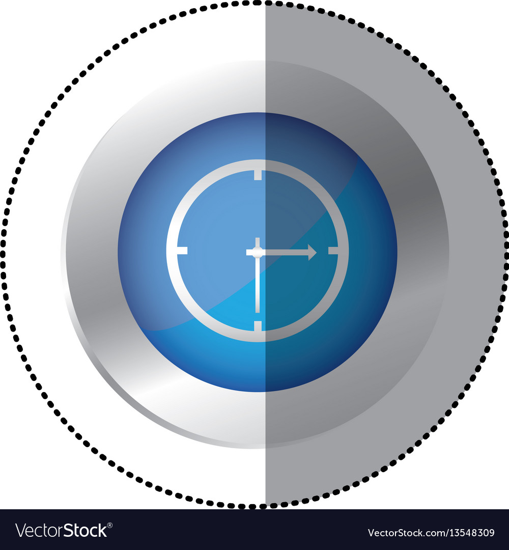 Blue symbol clock icon
