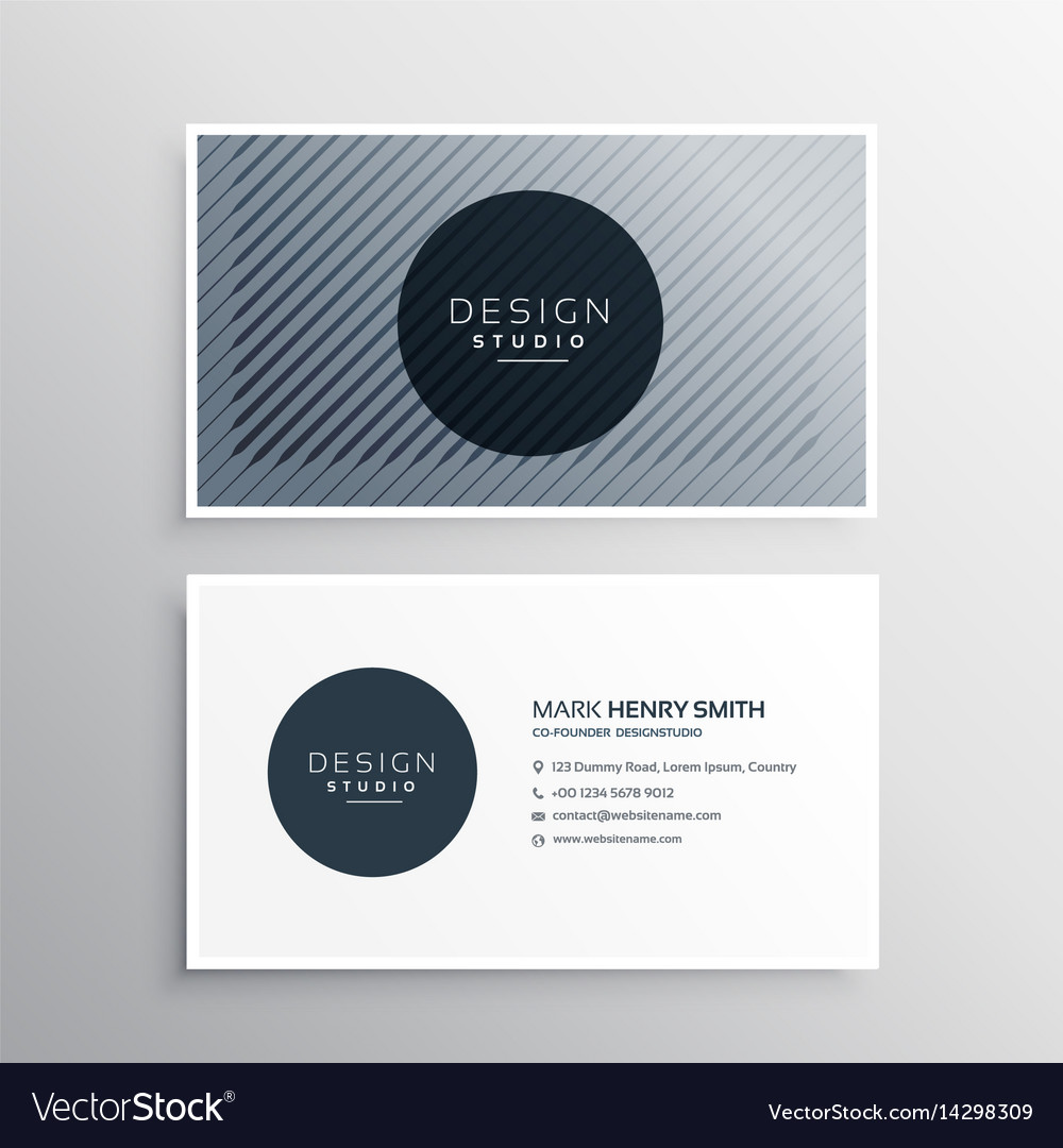 company business card layout template with vector image