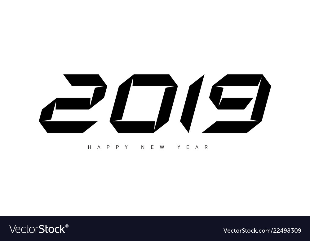 Happy new year 2019 minimalistic for cover of