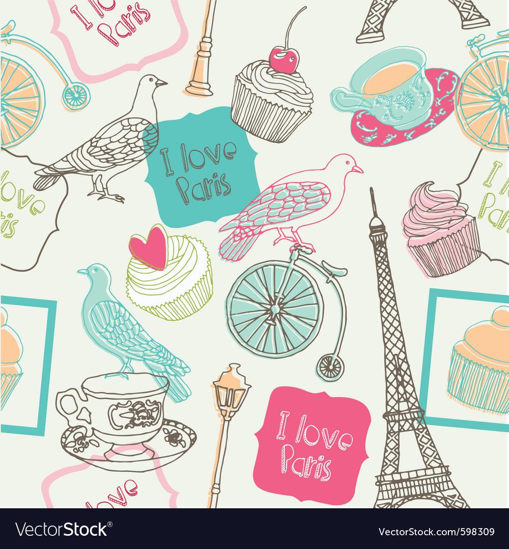 Love paris vector image