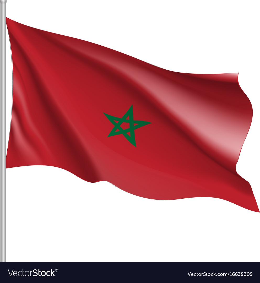 Marocco realistic flag