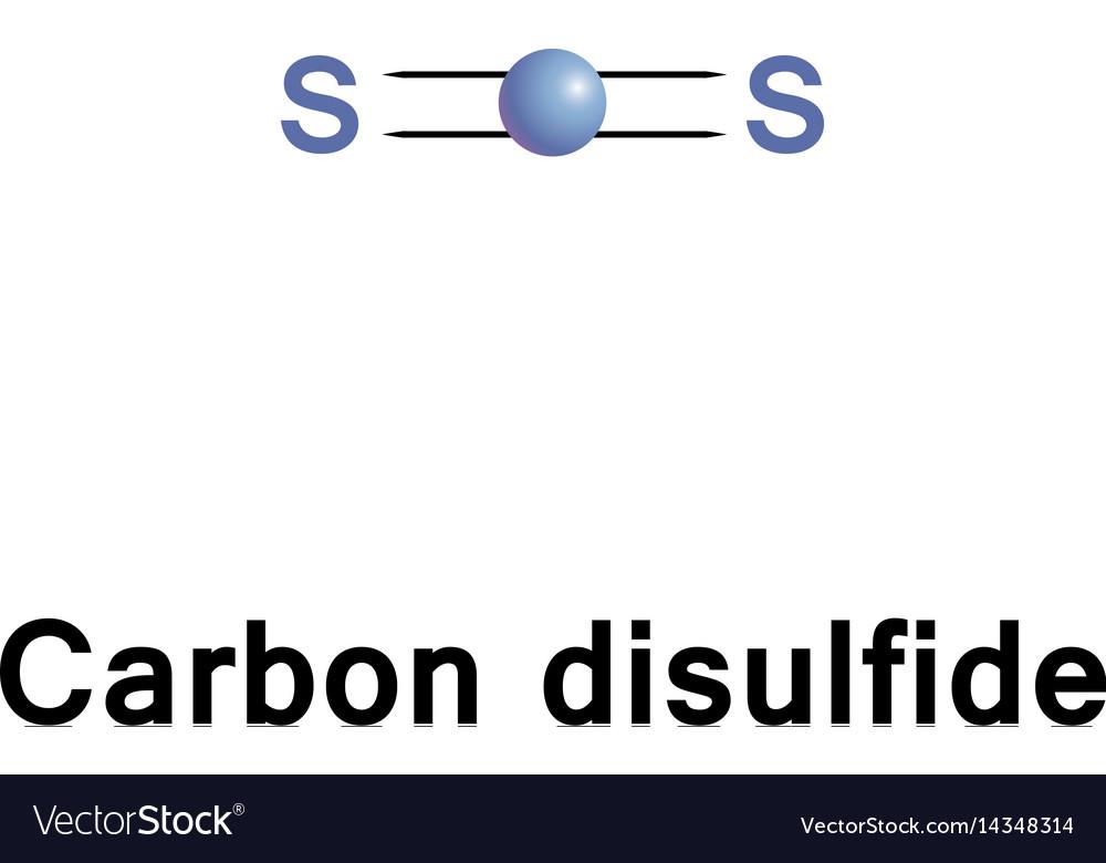 Carbon Disulfide Cs2 Royalty Free Vector Image