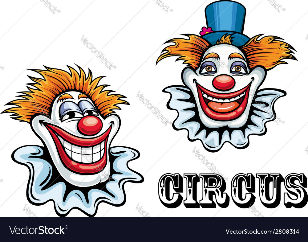 Circus cartoon clowns characters